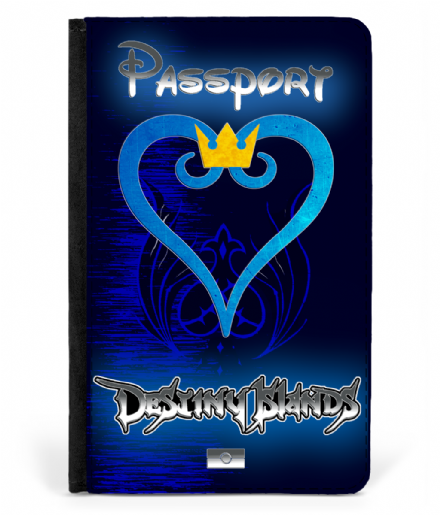 Destiny Islands Faux Leather Passport Cover based on Kingdom Hearts